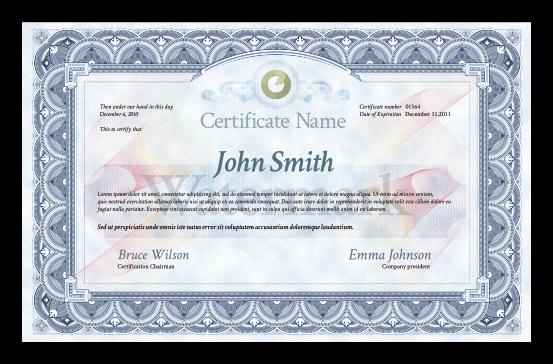 Шаблон сертификата в Фотошопе