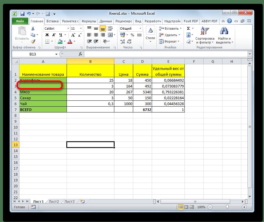 Ссылка удалена в Microsoft Excel