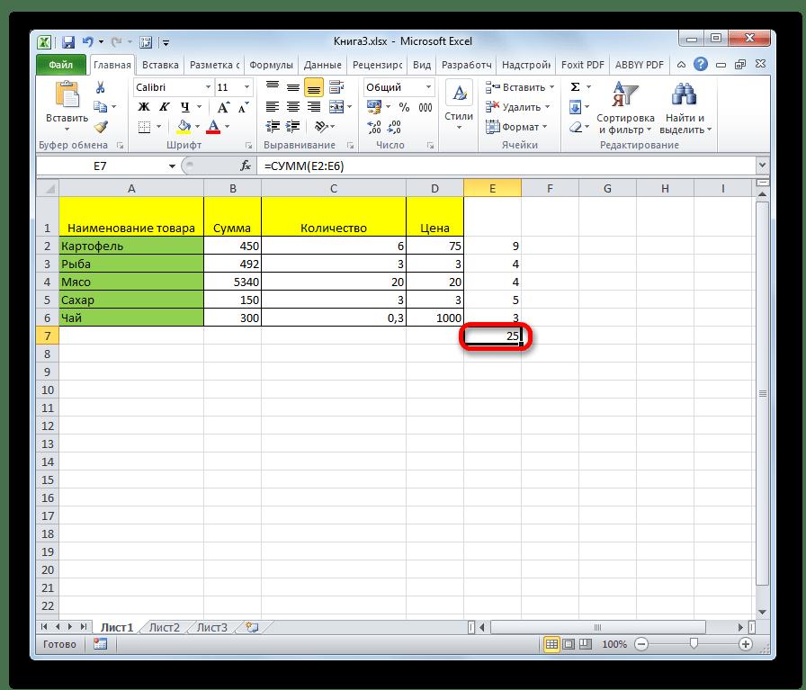 Сумма символов всех ячеек в Microsoft Excel
