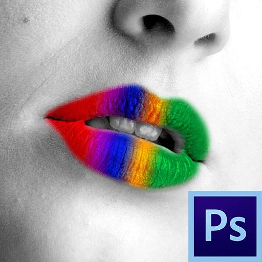как накрасить губы в фотошопе