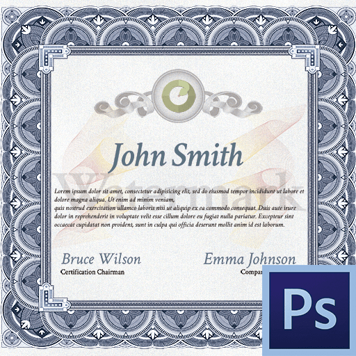 Как сделать сертификат в Фотошопе