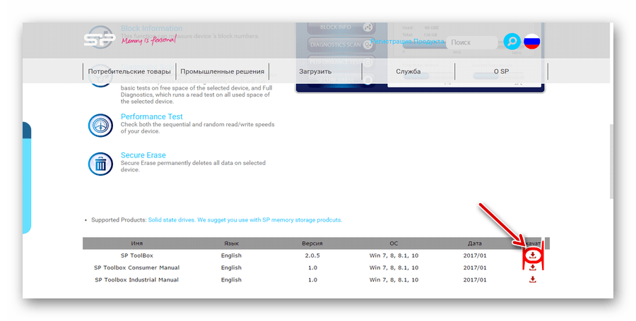 пиктограмма скачивания SP ToolBox