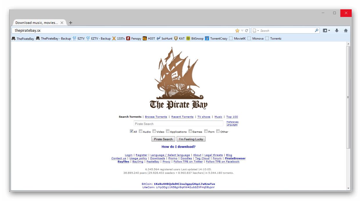 Анонимный браузер Pirate Browser
