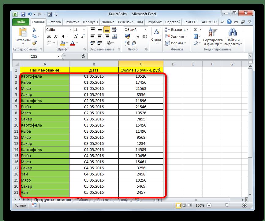 Фильтр сброшен в Microsoft Excel