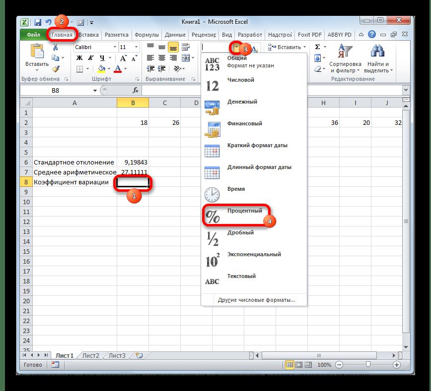 Форматированиае ячейки в Microsoft Excel