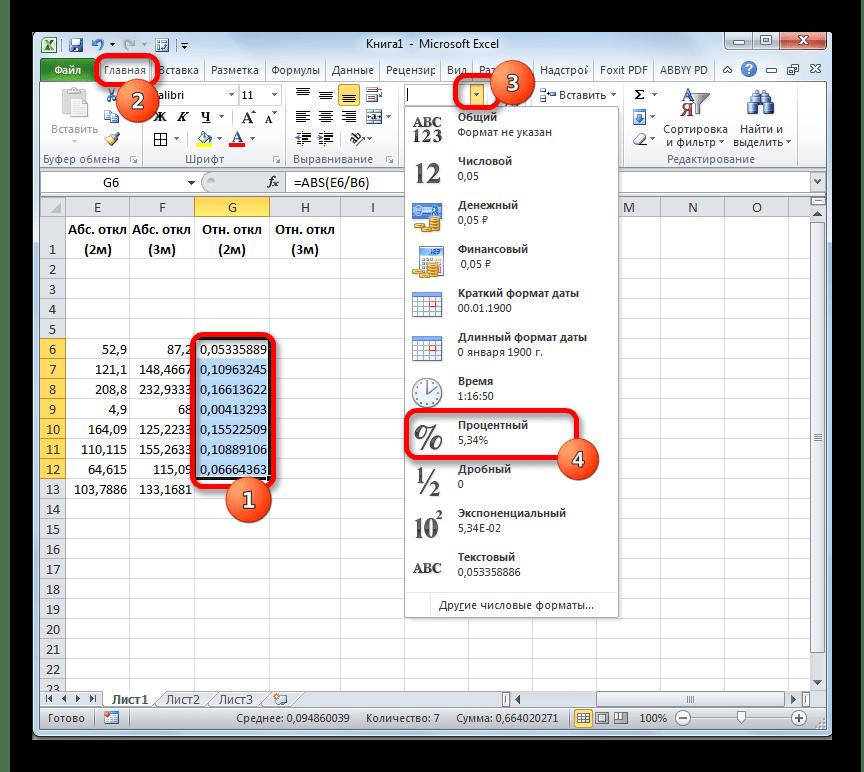 Изменение формата в Microsoft Excel