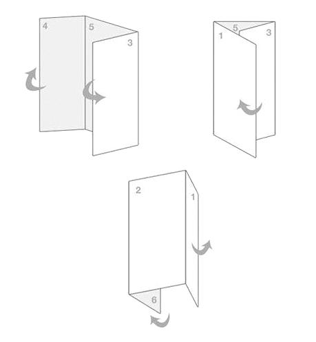Подготовка к созданию буклета с помощью листка бумаги в Фотошопе