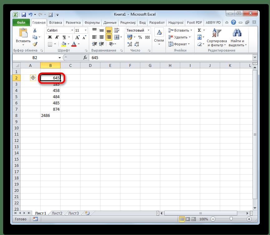 Преобразование числа в текст в Microsoft Excel