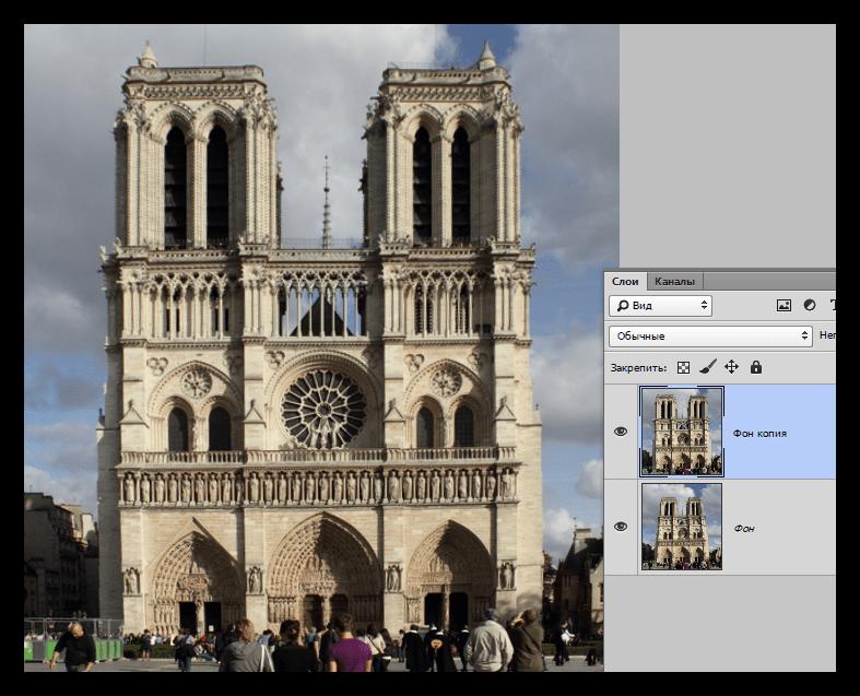 Результат работы фильтра Коррекция дисторсии в Фотошопе