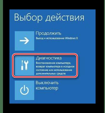 Windows 8 Выбор действия