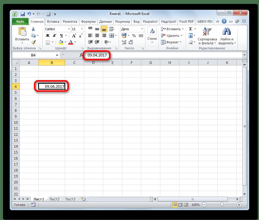 Дата в Microsoft Excel