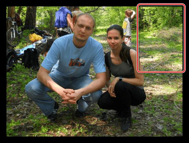 Дополнение фона при помощи инструмента Штамп в Фотошопе