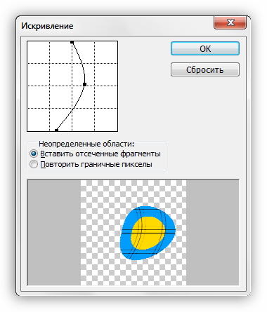 Фильтр Искривление для деформирования изображения в Фотошопе