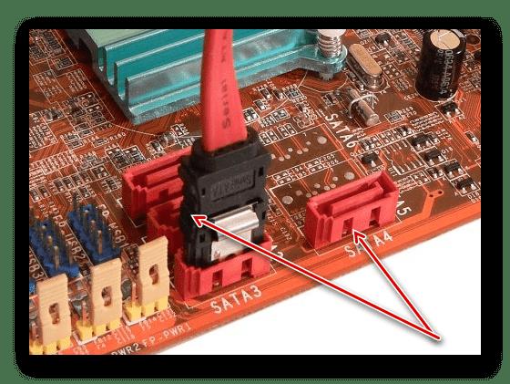 Подключение жесткого диска в другой порт SATA