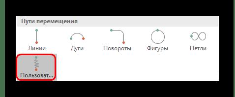 Пользовательская анимация в меню PowerPoint