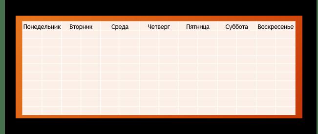 Пример вставленной таблицы из Excel в PowerPoint