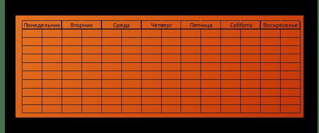 Пример вставленной таблицы из Excel в формате картинки в PowerPoint