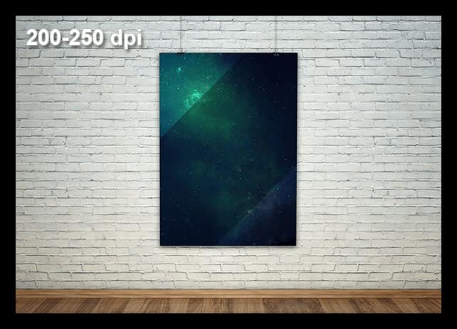 Рекомендуемое разрешение для афиш и плакатов равное 250 пикселей на дюйм в Фотошопе