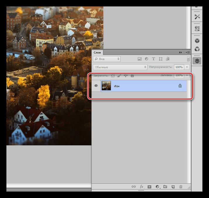 Результат заполнения фонового слоя изображением при закрашивании фона в Фотошопе