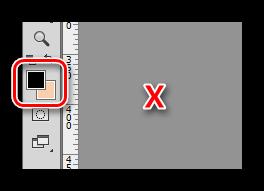 Смена основного цвета на фоновый при украшении фотографии в Фотошопе