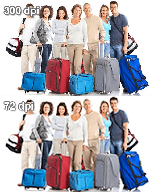 Зависимость качества изображения от разрешения в Фотошопе