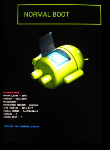 Asus Zenfone 2 ZE551ML режим бутлоадер