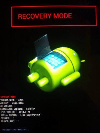 Asus Zenfone2 ZE551ML recovery mode