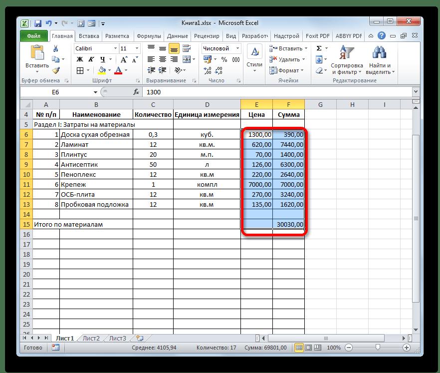 Денежные значения с двумя десятичеыми знаками в Microsoft Excel