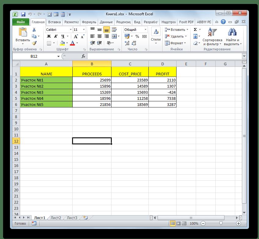 Файл с расширением XLSX открыт в Microsoft Excel