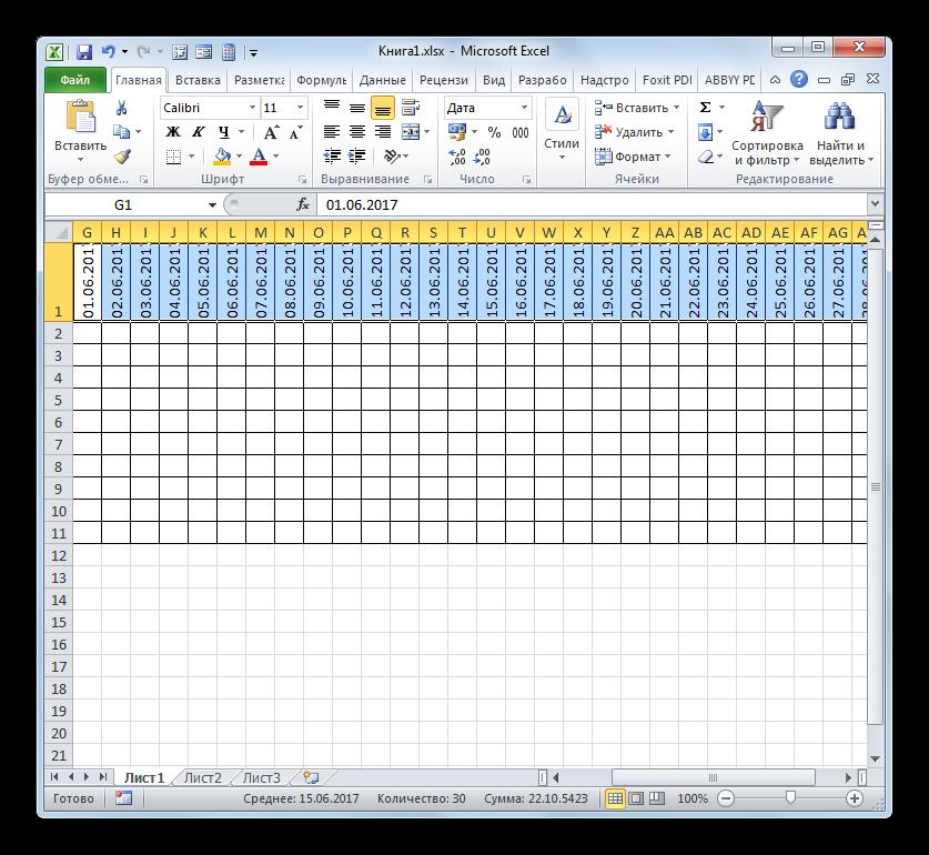 Квадратная форма элементов сетки в Microsoft Excel