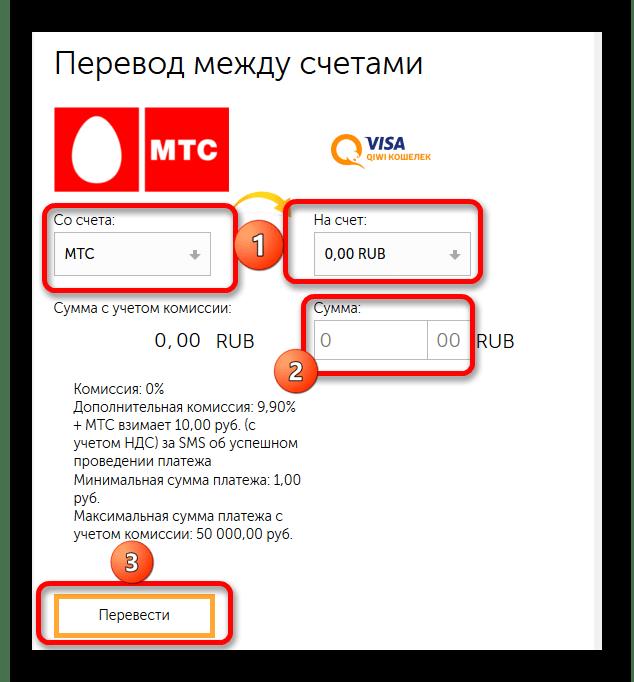 Перевод со счета мобильного