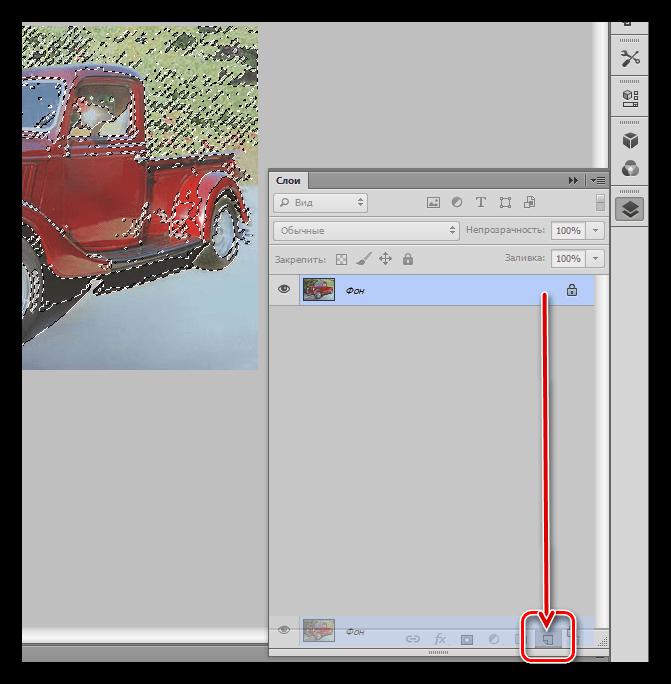 Повторное создание копии исходного слоя при инвертировании маски в Фотошопе