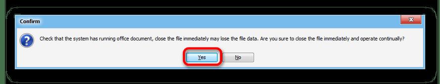 Сообщение о необходимости закрыть оффисные доекменты в программе Abex HTML to Excel Converter