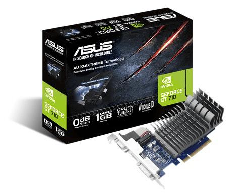 Видеокарта Nvidia GT710 с пассивной системой охлаждения
