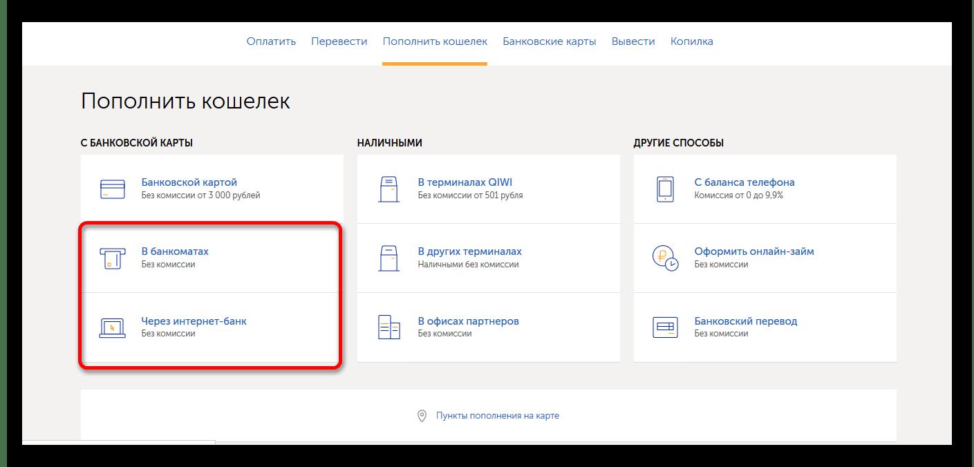 Выбор способа - банкомат или интернет-банкинг
