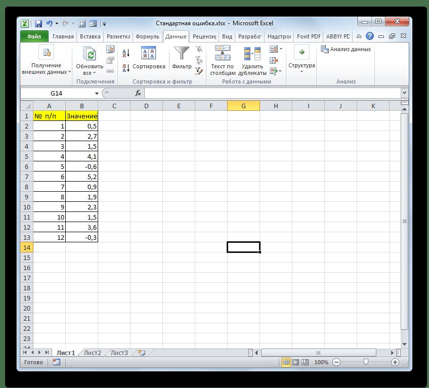Выборка в Microsoft Excel