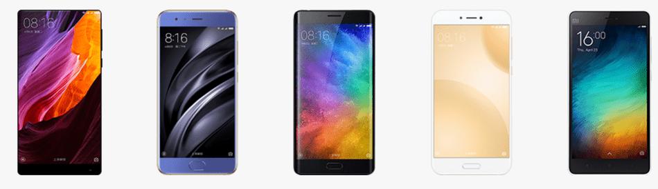 Xiaomi современные смартфоны