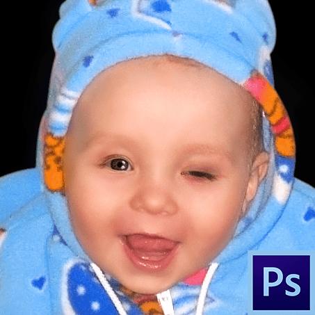 Как открыть глаза в Фотошопе