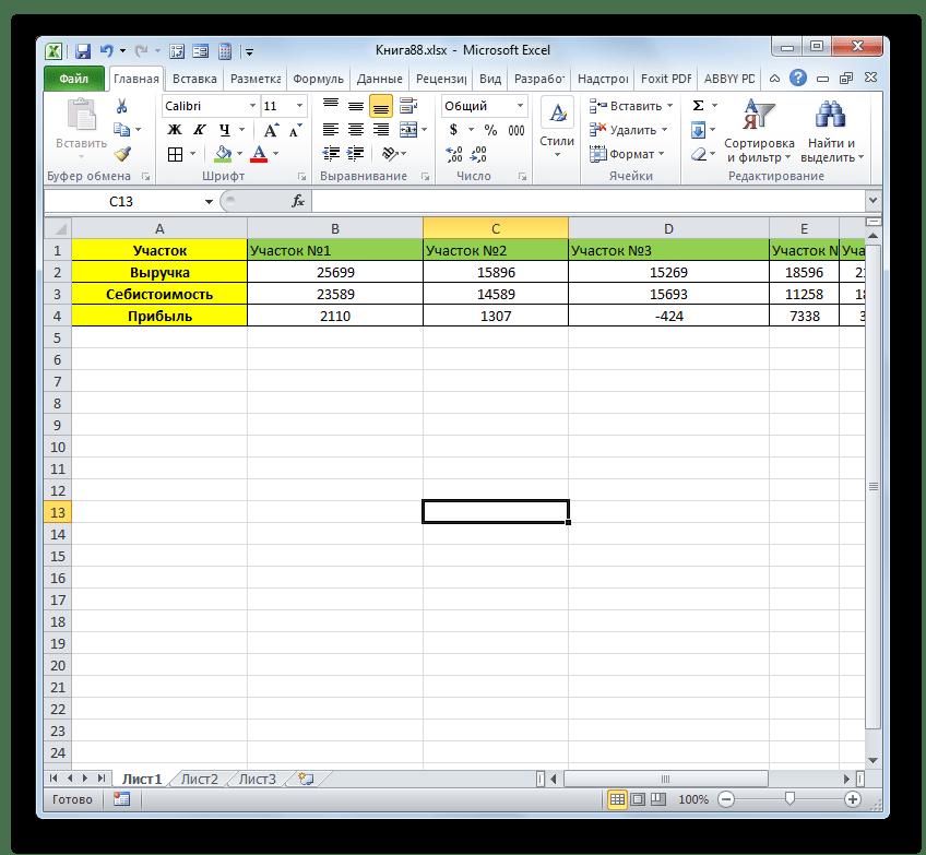 первичная таблица удалена в Microsoft Excel