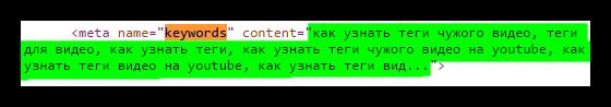 теги видео в коде страницы на ютубе