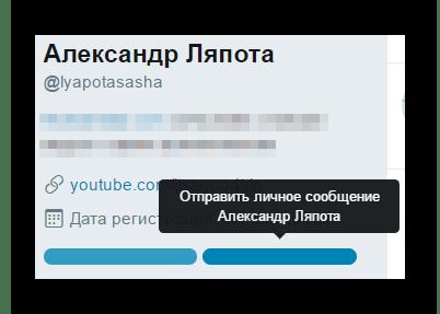 Безымянная кнопка для отправки сообщений в соцсети Twitter