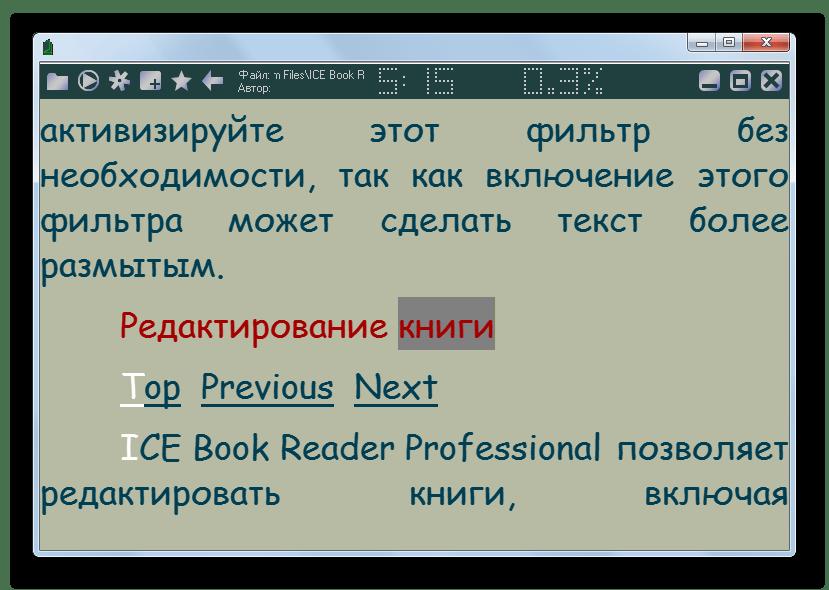Документ формата CHM открыт в программе ICE Book Reader