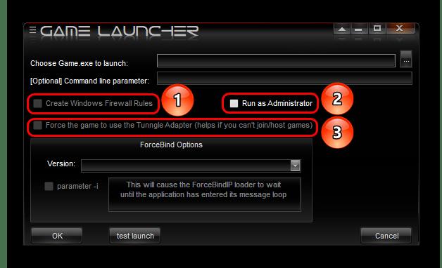 Дополнительные параметры для запуска игры в Tunngle