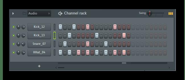 Драм линия FL Studio