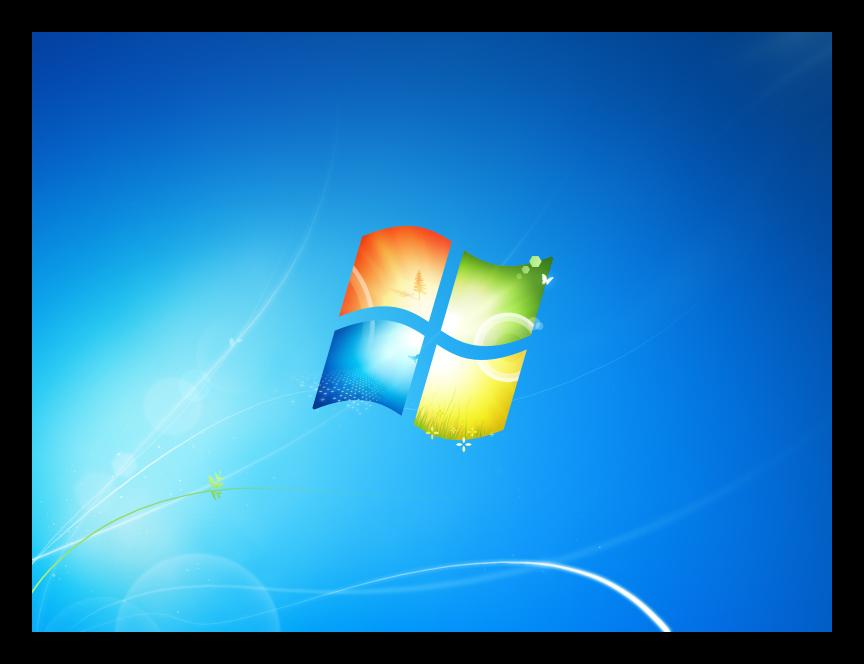 Экран монитора с завершенным процессом EXPLORER.EXE в Windows