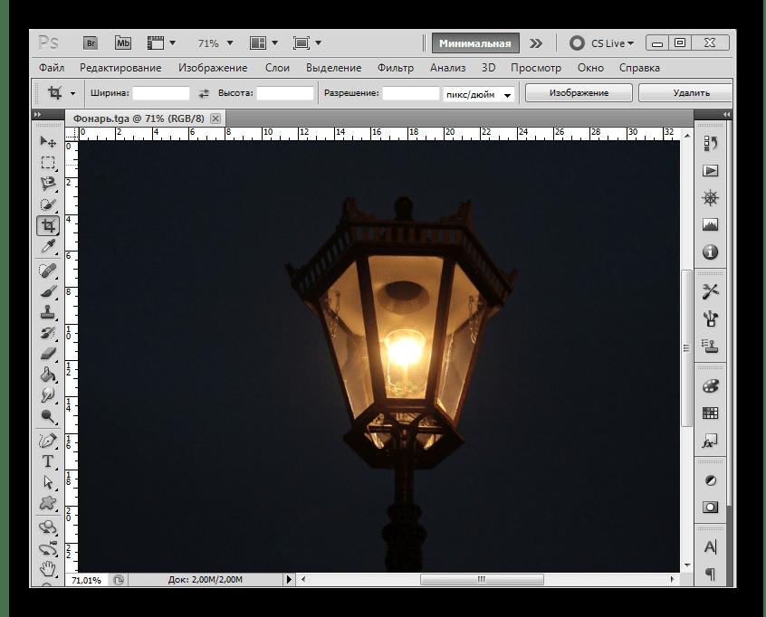 Файл TGA в рабочем окне Adobe Photoshop