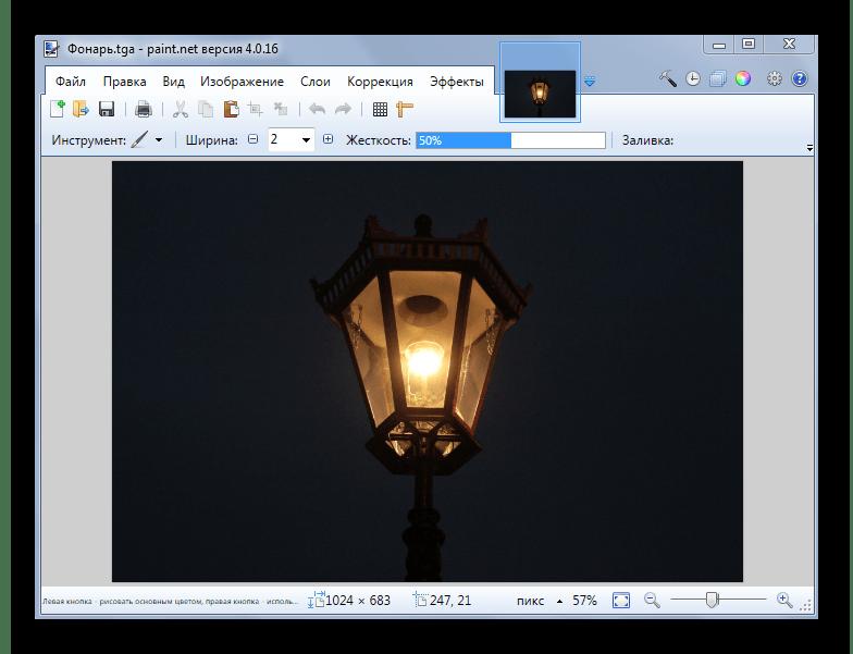 Файл TGA в рабочем окне Paint.NET