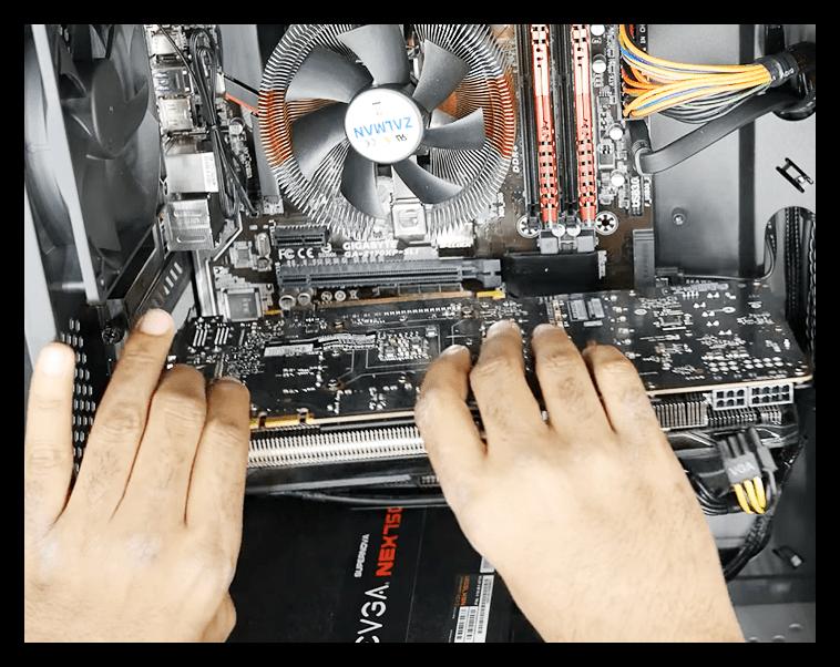 Извлечение видеокарты из слота PCI-E