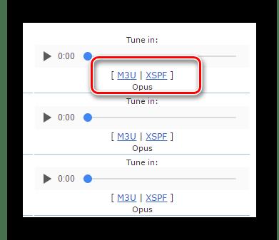 Кнопки загрузки плейлистов из базы Icecast Directory