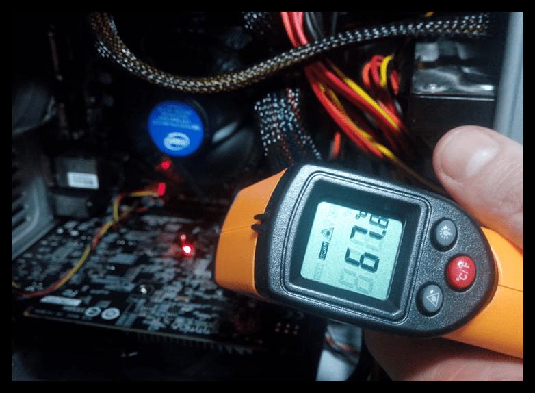 Мониторинг температуры видеокарты при помощи пирометра
